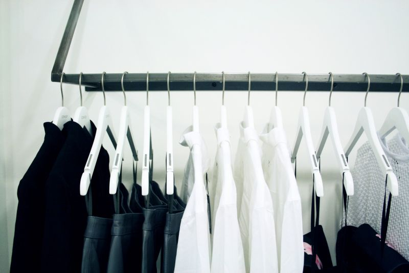 convey queen st toronto clothes on racks, shirt and dress