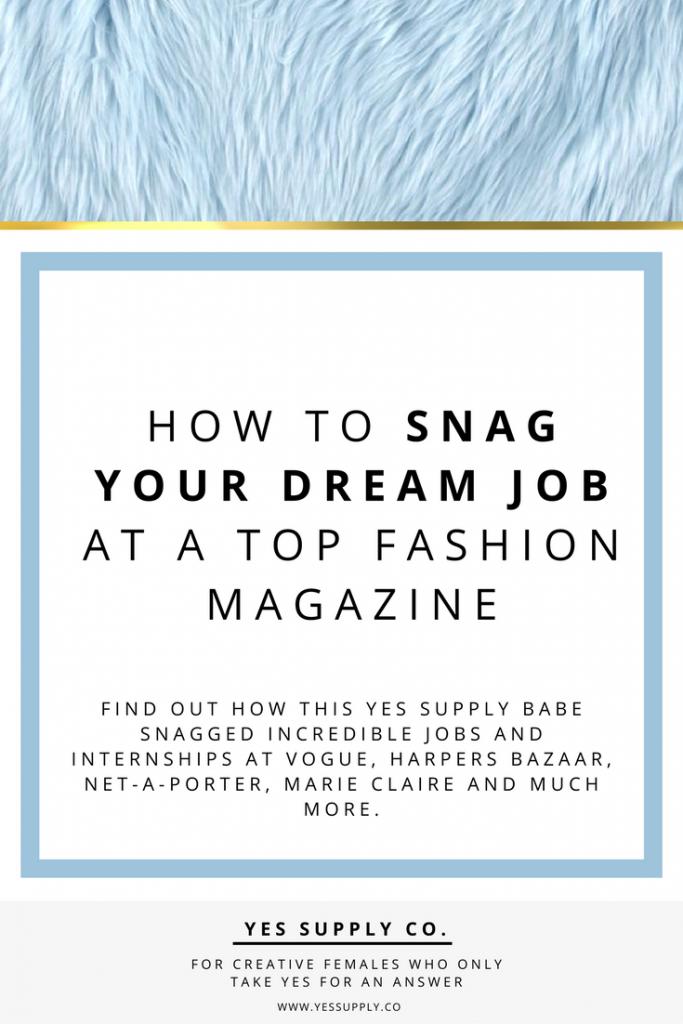 job at top fashion magazines