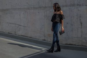 georgia alice off the shoulder top, citizens of humanity jeans