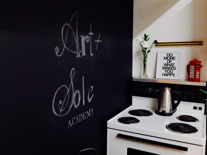 Jennifer Allison Art and Sole Academy Sign