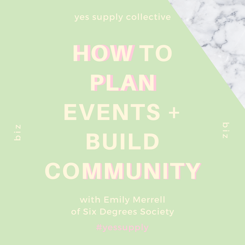 How to plan events