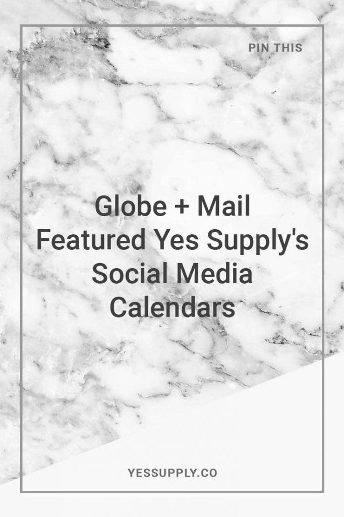 Yes Supply Social Media Calendars