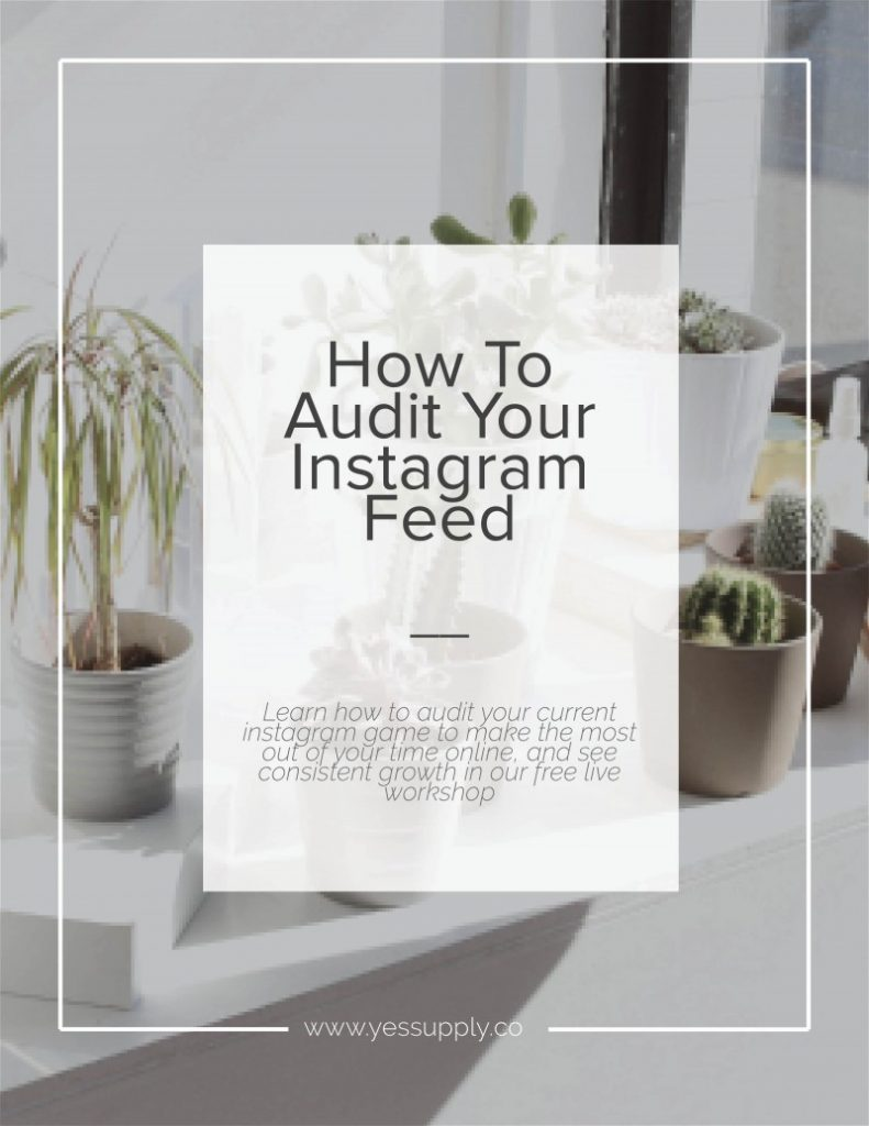 Learn how to audit your current instagram game to make the most out of your time online, and see consistent growth in our free live workshop