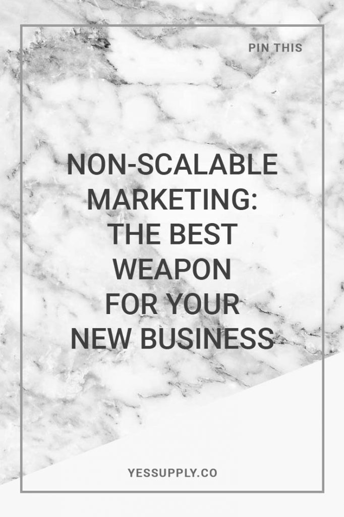 non scalable marketing