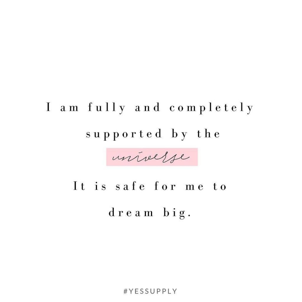 Make this your new mantra. The world is your oyster. Dream it and then just do it. It's that simple. For more inspiration, quotes and tips on self-love and business for women, girlbosses, coaches, service, and freedom based business and female entrepreneurs check out www.yessupply.co