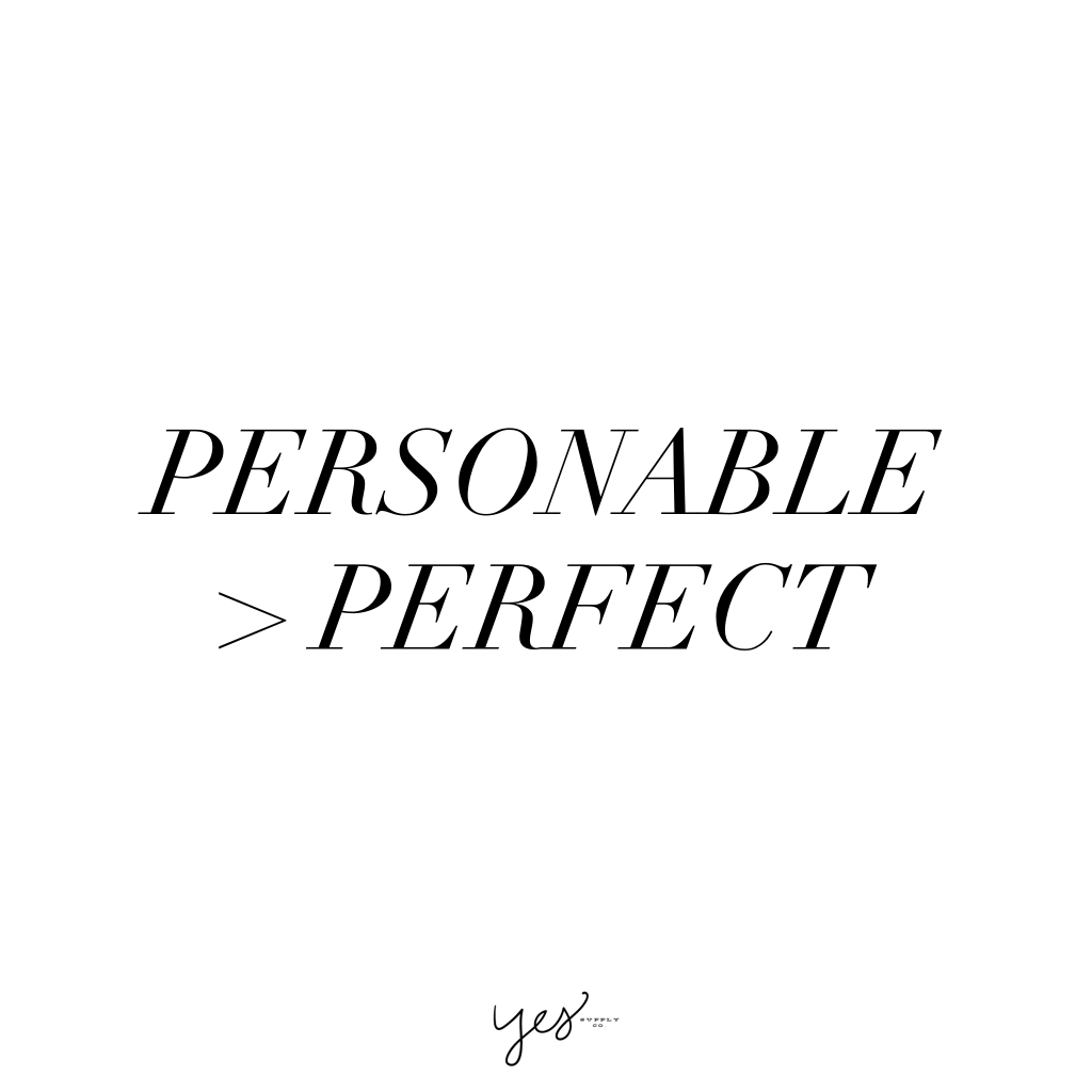 Personable perfect. For more inspiration, quotes and tips on self-love and business for girlbosses and female creatives check out yessupply.co.