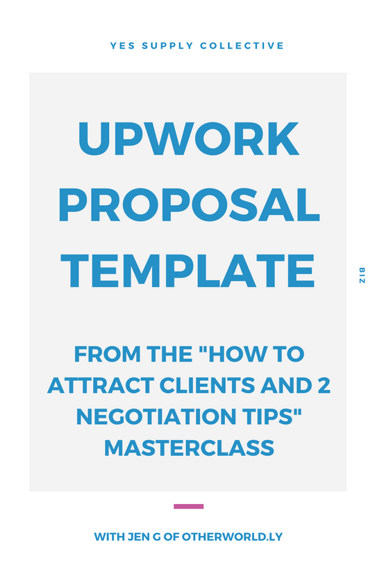 upwork proposal template yes supply co