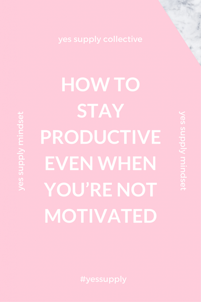 Do you have so much to do but not enough time?  How do you be productive when you're not feeling motivated?  We lay out some tips on how to stay motivated. This post has so many helpful tips! To get things done you must balance the three components of motivation: activation, intensity and perseverance. For more tips and tricks, be sure to comeback at yessupply.co!