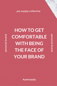 face of your brand