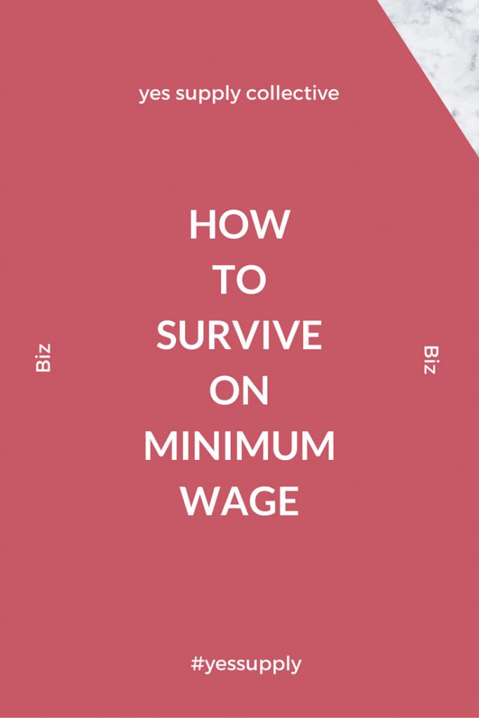 survive on minimum wage