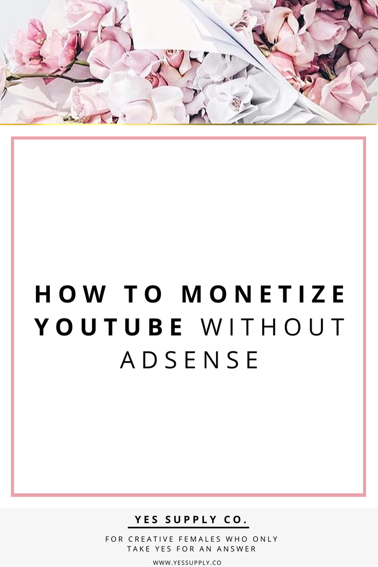 Have you lost your Youtube Channel's Monetization Feature? Do you want to make money on you tube without adsense?Yes! It's still possible to make money without monetizing your YouTube videos. Social media techniques will help Entrepreneurs, female business owners, girlboss, bossbabe. For more tips and tricks Go check www.yessupply.co