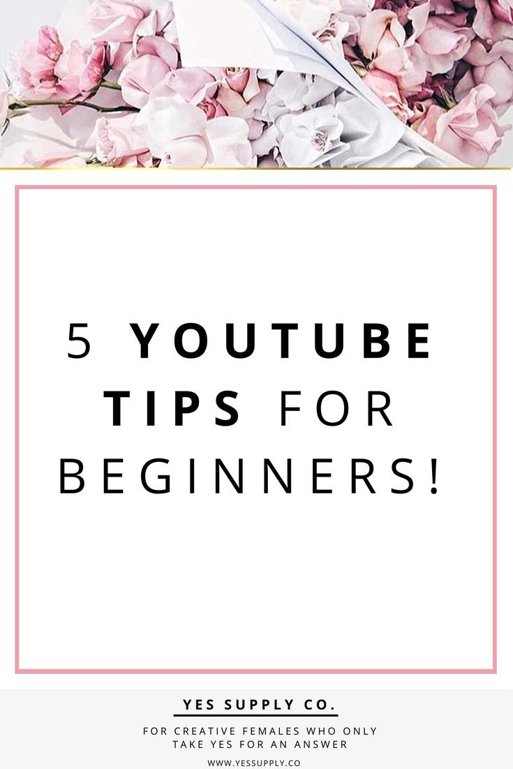 YouTube Tips for Beginners