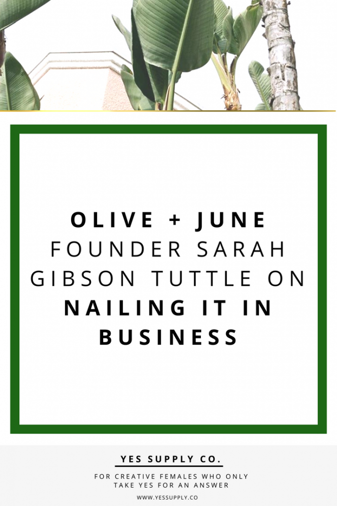 Mani obsessed Sarah Gibson Tuttle knew a thing or two about pleasing clients. ... What sets Olive & June apart from other nail salons? To know more strategies please go and read www.yessupply.co