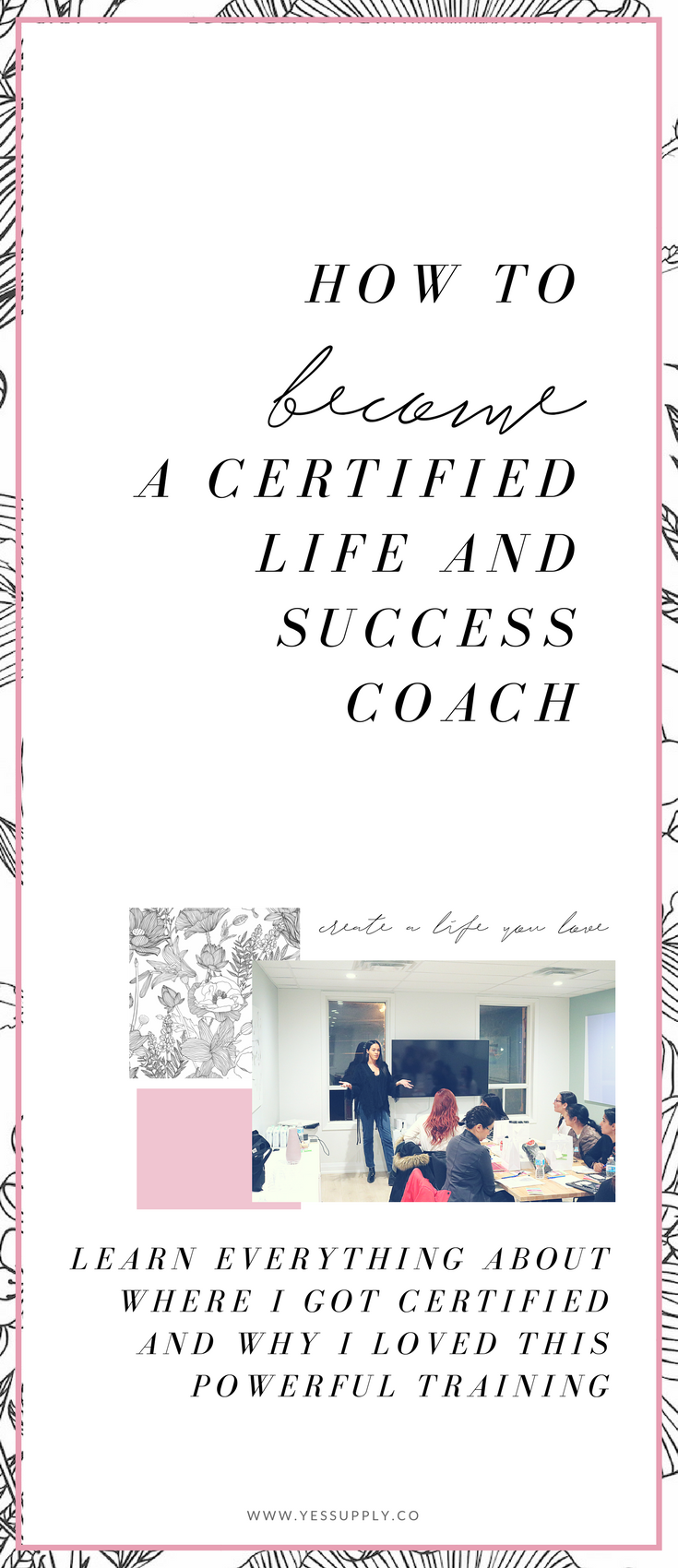 Want to become a life coach? In this post I share tips, advice, and ideas you need to get certification and training programs as a life and success coach. This is perfect if you love personal development, spirituality, motivation and you want to make coaching your career or business. Head to https://www.yessupply.co/get-certified-coach-nlp-success-life-coaching-hypnotherapy.