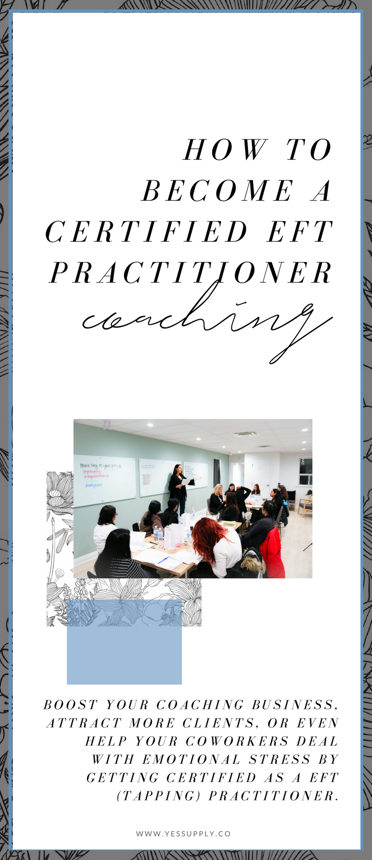 want to become a coach, and get certified as an eft practitioner? This will give you techniques to make your coaching business grow and gaiin more clients. You'll be able to help people in a deeper way. Mindset, spirituality coaches will love this.