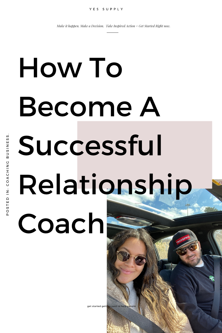 how to become a successful relationship coach