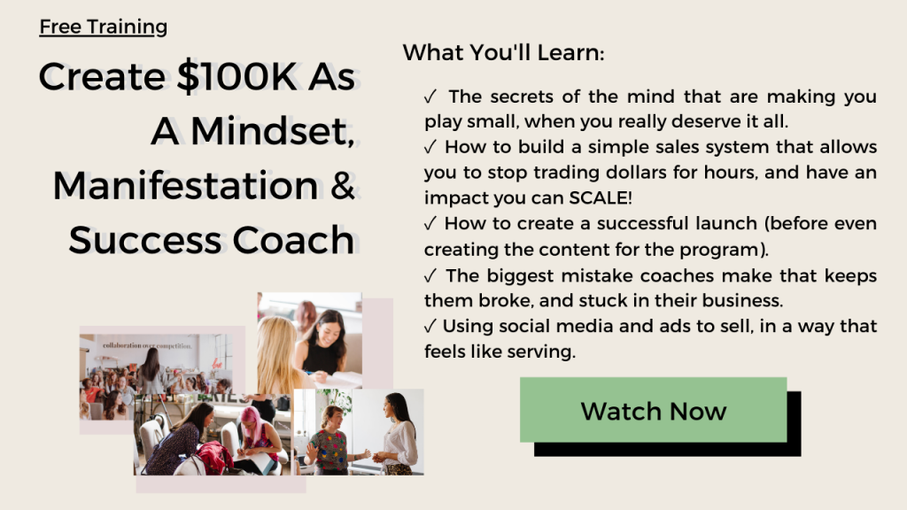 manifestation success coach