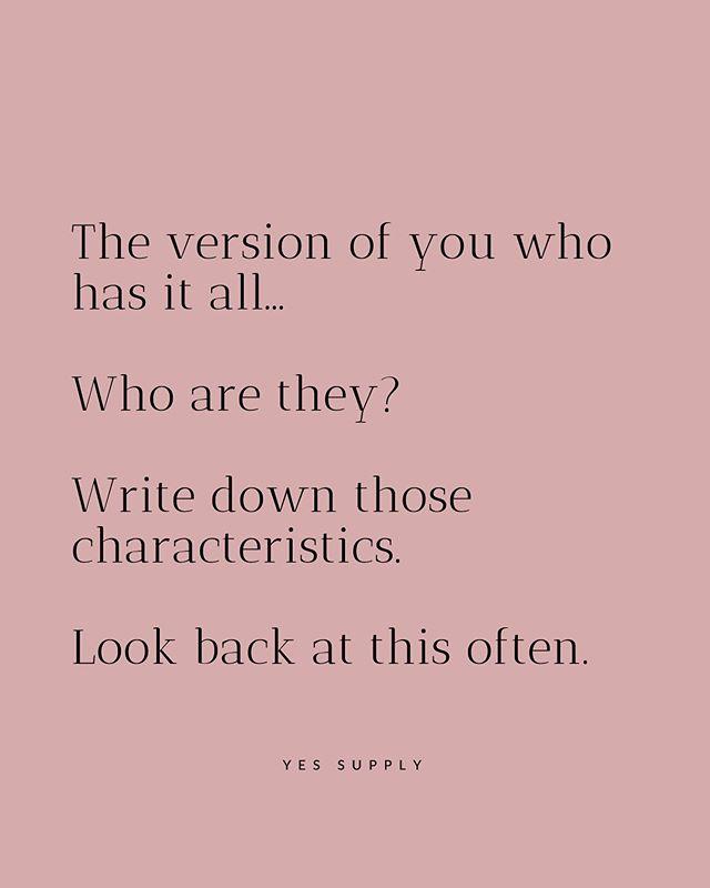 Write Down Those Characteristics
