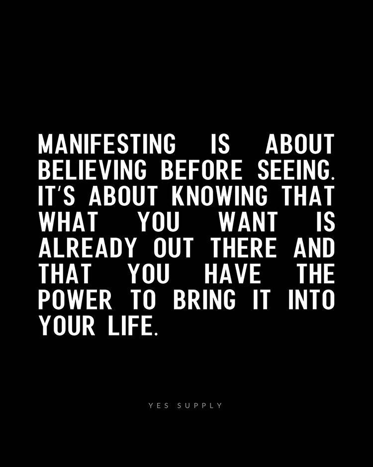 scripting manifesting
