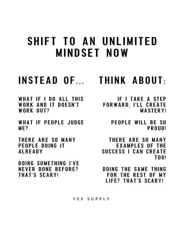 Shift to An Unlimited Mindset Now